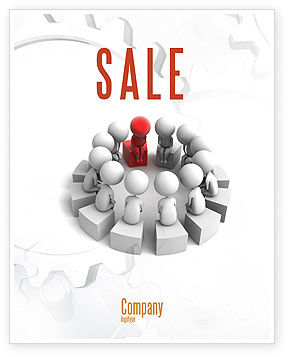 Group Deliberation Sale Poster Template, 06654, 3D — PoweredTemplate.com