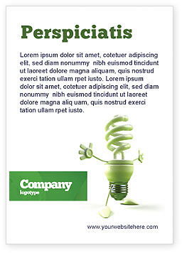 Nature & Environment: Energy Save Lamp Ad Template #06657