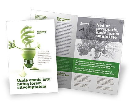 Energy Save Lamp Brochure Template, 06657, Nature & Environment — PoweredTemplate.com