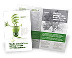 Nature & Environment: Energy Save Lamp Brochure Template #06657