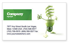 Nature & Environment: Energy Save Lamp Business Card Template #06657