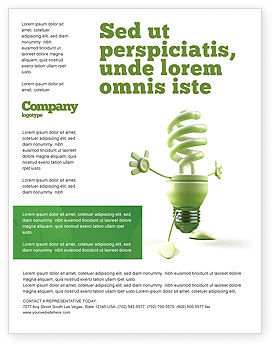 Nature & Environment: Templat Flyer Lampu Hemat Energi #06657