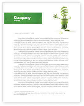 Nature & Environment: Energy Save Lamp Letterhead Template #06657
