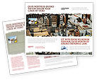 Construction: Big Building Site Brochure Template #06675