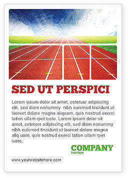 Sports: Racebaan Advertentie Template #06677