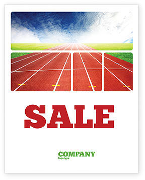 Sports: Race Track Sale Poster Template #06677