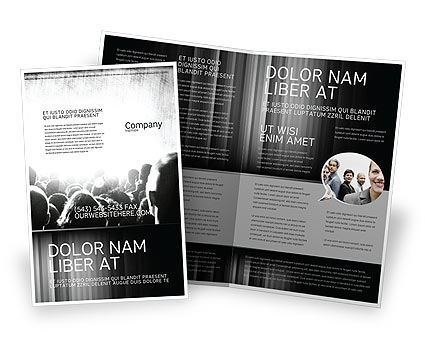 Mob Brochure Template, 06683, Art & Entertainment — PoweredTemplate.com