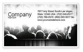 Art & Entertainment: Mob Business Card Template #06683