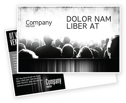 Art & Entertainment: Mob Postcard Template #06683