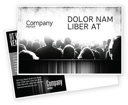 Mob Postcard Template, 06683, Art & Entertainment — PoweredTemplate.com