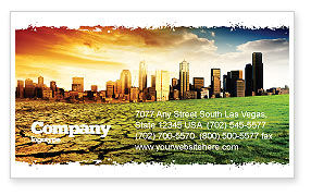 Nature & Environment: Bad Ecology City Business Card Template #06687
