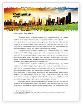 Nature & Environment: Bad Ecology City Letterhead Template #06687