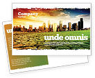 Nature & Environment: Bad Ecology City Postcard Template #06687