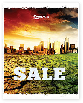 Bad Ecology City Sale Poster Template