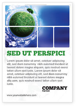 Green Planet In the Space Ad Template, 06693, Nature & Environment — PoweredTemplate.com