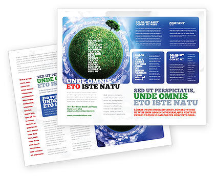 Green Planet In the Space Brochure Template