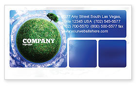 Nature & Environment: Green Planet In the Space Business Card Template #06693