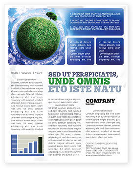 Nature & Environment: Green Planet In the Space Newsletter Template #06693