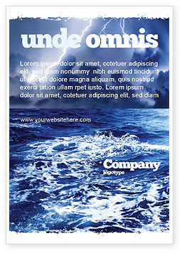 Nature & Environment: Royal Blue Sea Ad Template #06725