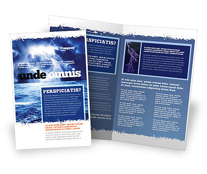 Nature & Environment: Royal Blue Sea Brochure Template #06725