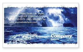 Royal Blue Sea Business Card Template, 06725, Nature & Environment — PoweredTemplate.com