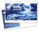 Nature & Environment: Royal Blue Sea Postcard Template #06725