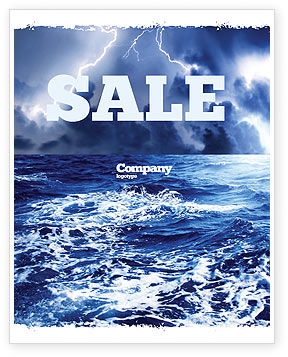 Royal Blue Sea Sale Poster Template