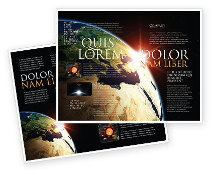 Global: Sunrise in Space Brochure Template #06729