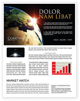 Sunrise in Space Newsletter Template, 06729, Global — PoweredTemplate.com
