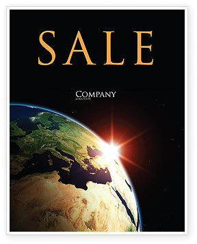 Global: Sunrise in Space Sale Poster Template #06729