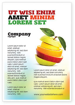 Food & Beverage: Cut Apple Ad Template #06731