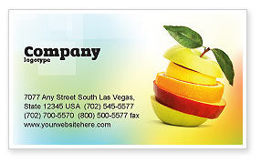 Cut Apple Business Card Template, 06731, Food & Beverage — PoweredTemplate.com