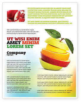 Food & Beverage: Cut Apple Flyer Template #06731