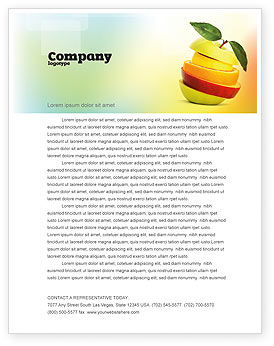 Food & Beverage: Cut Apple Letterhead Template #06731
