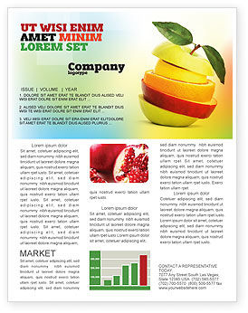Food & Beverage: Cut Apple Newsletter Template #06731
