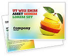 Food & Beverage: Cut Apple Postcard Template #06731