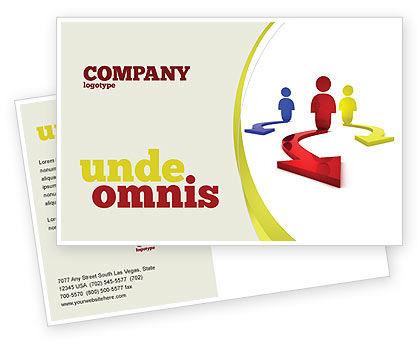 Business Concepts: 生活の選択 - はがきテンプレート #06753