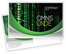 Telecommunication: Matrix Code Stream Postcard Template #06754