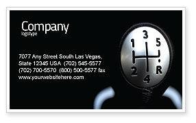 Transmission Business Card Template, 06760, Business Concepts — PoweredTemplate.com