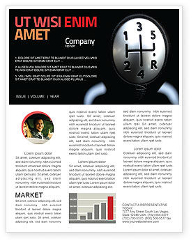 Transmission Newsletter Template, 06760, Business Concepts — PoweredTemplate.com