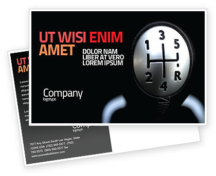 Transmission Postcard Template, 06760, Business Concepts — PoweredTemplate.com
