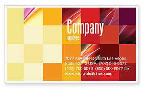 Pixel Mosaic Business Card Template, 06766, Abstract/Textures — PoweredTemplate.com