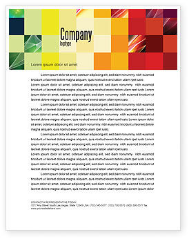 Pixel Mosaic Letterhead Template, 06766, Abstract/Textures — PoweredTemplate.com
