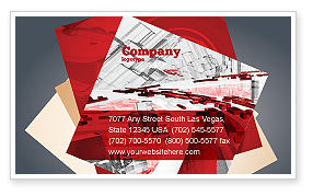 Construction: Plantilla de tarjeta de visita - resumen ciudad colapso #06774