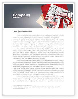 Abstract City Collapse Letterhead Template, 06774, Construction — PoweredTemplate.com