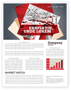 Construction: Abstract City Collapse Newsletter Template #06774