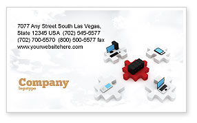 Technology, Science & Computers: Central Computer Server Business Card Template #06779