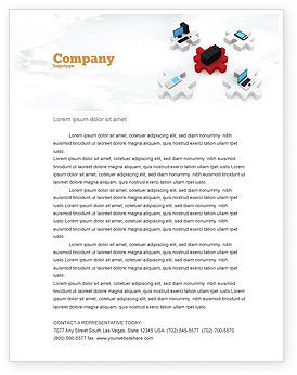 Technology, Science & Computers: Central Computer Server Letterhead Template #06779