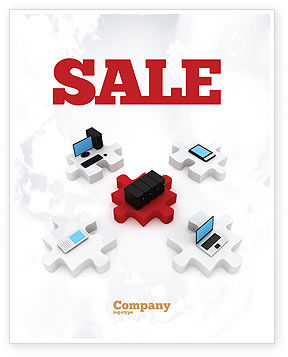 Central Computer Server Sale Poster Template, 06779, Technology, Science & Computers — PoweredTemplate.com