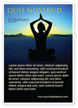 Contemplation Ad Template, 06786, Religious/Spiritual — PoweredTemplate.com